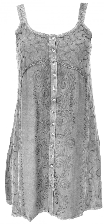 Embroidered indian dress, Boho mini dress   grey/Design 21